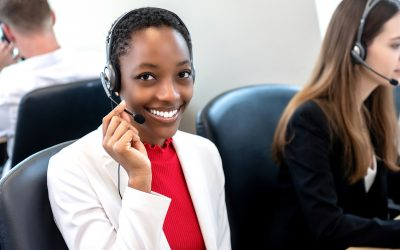 A female employee offering Managed IT Support: low volume and out of hours cover