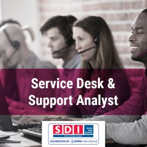 Service desk and support analyst